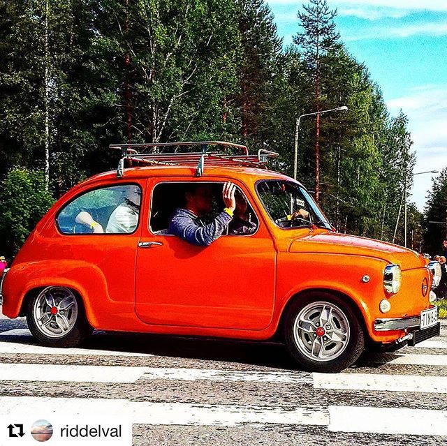 repost from @riddelval, cool Fiat attending our cruising parade at Big Wheels 22.7.2017