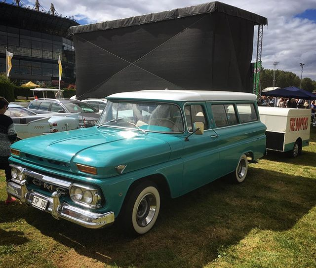 Wheels Nationals, Stockholm, Sweden. The Boppers' tour wagon.