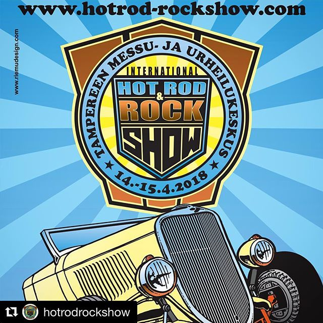 @bigwheelsevents ja @usacarclub mukana Hot Rod & Rock Showssa 14.-15.4.2018. We're attending the show, come and visit our stand!  @hotrodrockshow ・・・