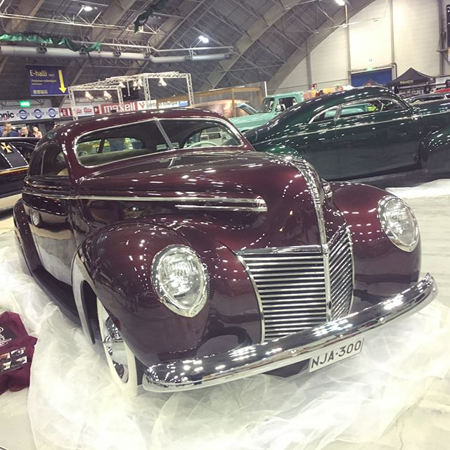 Awesome 1939 Mercury kustom at Hot Rod & Rock Show, Tampere, Finland.