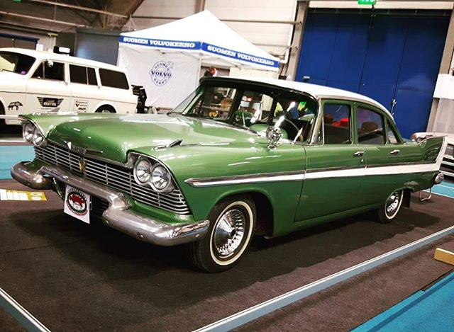 Four doors, no waiting. Cool Plymouth at Hot Rod & Rock Show, Tampere, Finland.