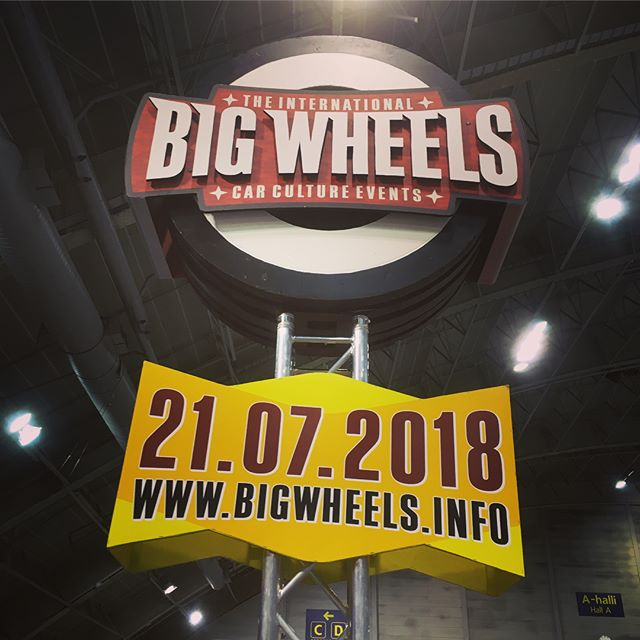 We're ready! Big Wheels, UCC ry ja Pieksämäki Tampereella Hot Rod & Rock Showssa 14.-15.4. la 10-18, su 11-16.