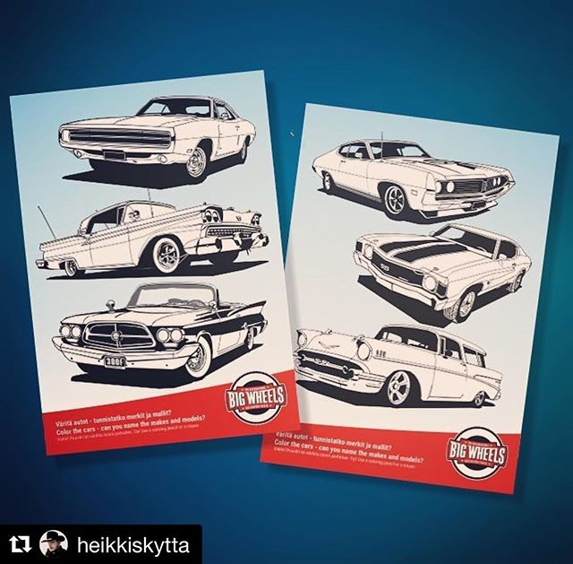 @heikkiskytta ・・・ Limited edition of coloring templates for @bigwheelsevents available at Big Wheels in July. Värityskuvia saatavana heinäkuussa Big Wheelsissä. Rajoitetusti.