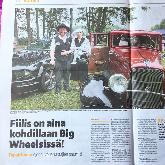 Local newspaper Pieksämäen Lehti about Big Wheels on Tuesday. Paikallislehti uutisoi tiistaina. @kiki_jaybird