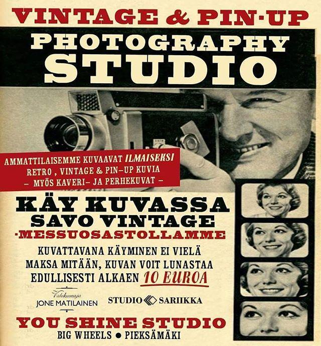Pin-up & vintage photoshoots at Big Wheels & Savo Vintage. You shine -kuvausstudio jälleen paikalla. Kysy paikan päällä myös autokuvauksia.