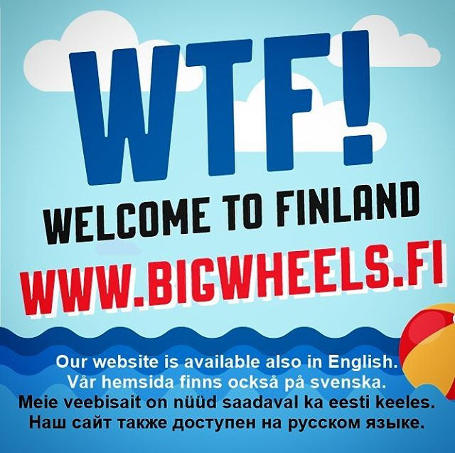 WTF! More info about our event available at www.bigwheels.fi - link in bio.