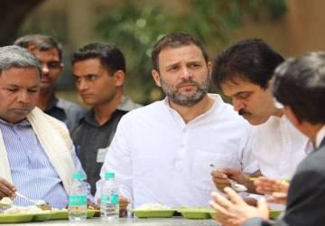 राहुल गांधी ने खाया 10 रुपये वाला सरकारी खाना.
