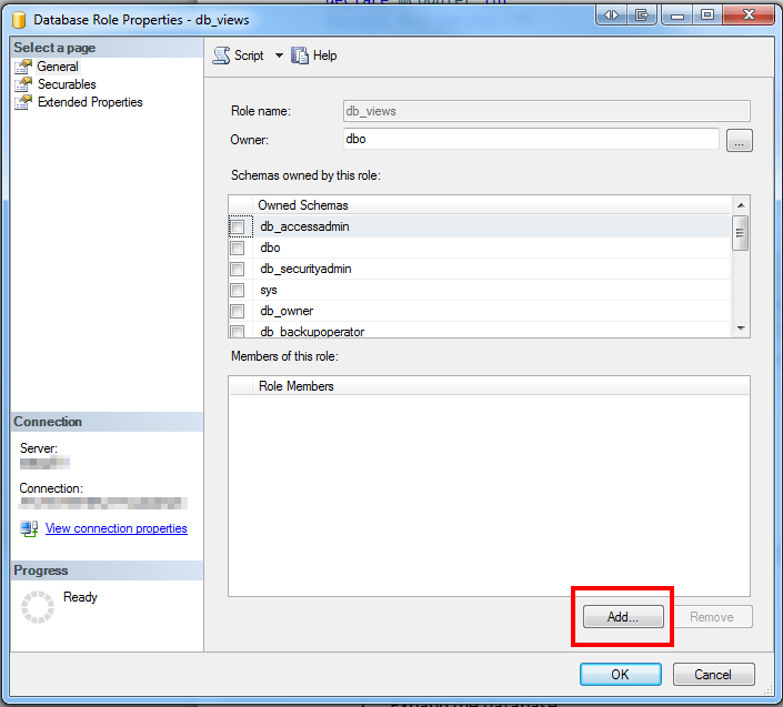 How to manage the user access rights to see database views