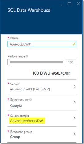 Install Azure SQL Data Warehouse 07