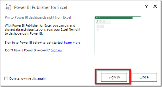 Power BI Publisher for Excel