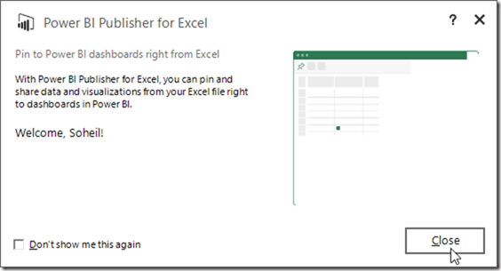 Power BI Publisher for Excel 03