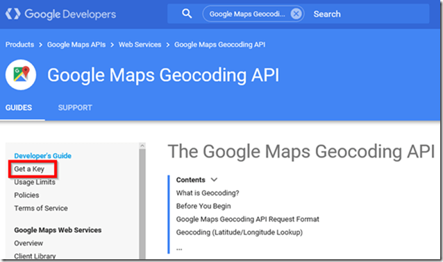 Google Maps Geocoding API
