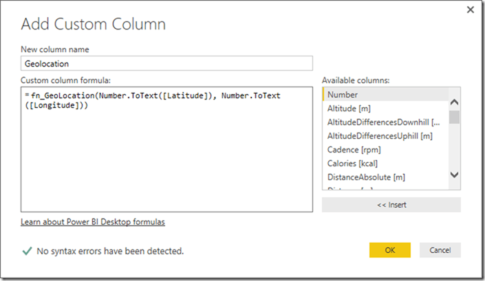 Power BI Query Editor Add New Column