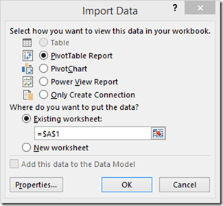 Connecting to Power BI Desktop Model from Excel