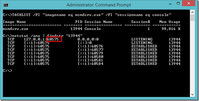 Finding Power BI Desktop local port using Windows Command Prompt (CMD)