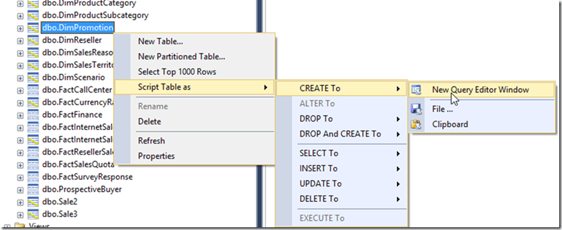 Script Azure SQL Data Warehouse Objects in SSMS 2016