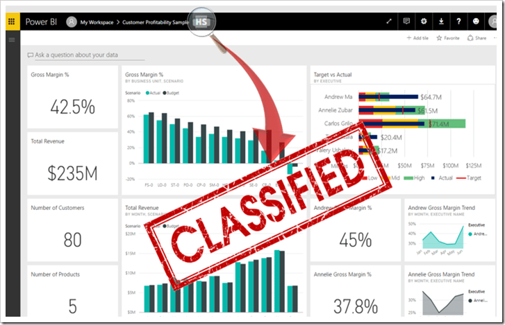 Power BI Data Classification