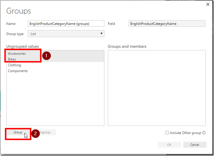 Create Groups in Power BI Desktop