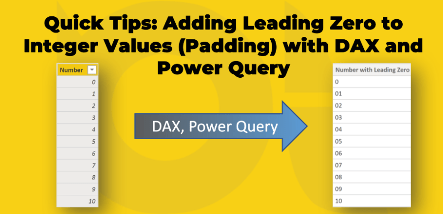 Quick Tips: Adding Leading Zero to Integer Values (Padding) with DAX and Power Query