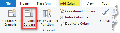 Adding a New Column to a Table in Power Query