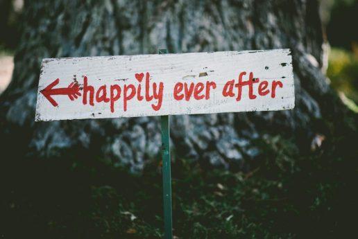 Happily ever after bordje met toekomstige man