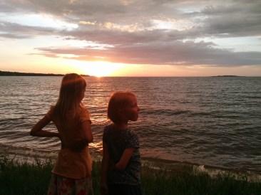 Zonsondergang bij het Victioria-meer.