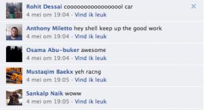 Reacties op Shell racewagen