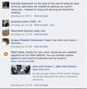 Shell reageert!