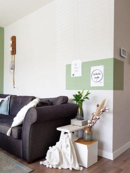 kleurvlak woonkamer