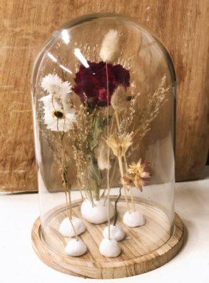 Daffies DIY stolp met droogbloemen