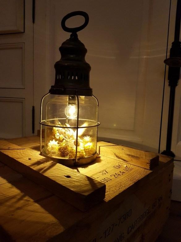droogbloemen in lamp