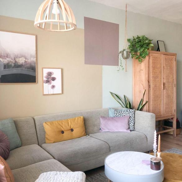 Kleurvlakken woonkamer