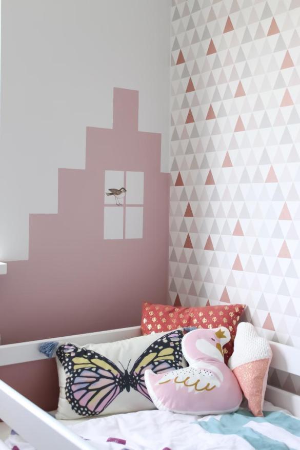 Kleurvlak muur kinderkamer