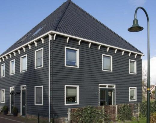 zwart huis, interieur trend