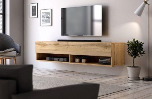 zwevend tv meubel eiken