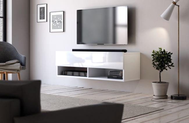 zwevend tv meubel wit