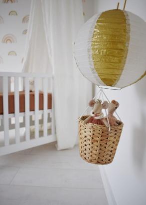 luchtballon met muisjes zelf maken voor op babykamer