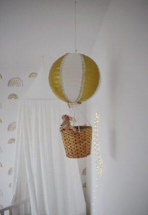 luchtballon maken met muisjes kinderkamer