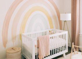 regenboog babykamer als interieurtrend kinderkamer 2021