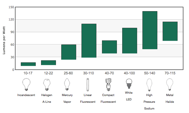light bulbs lumens vs watts