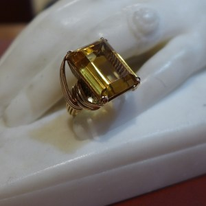 Photo de Bague citrine