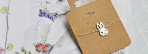 Bijoux 7bis Paris - Bracelet argenté lapin
