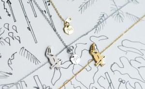 Bijoux 7bis Paris - Bracelet doré et argenté toucan