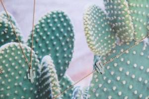 Bijoux 7bis Paris - Set de bijoux collier et bracelet doré cactus Collection Oasis