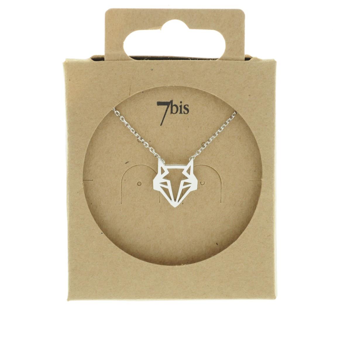 collier argent renard