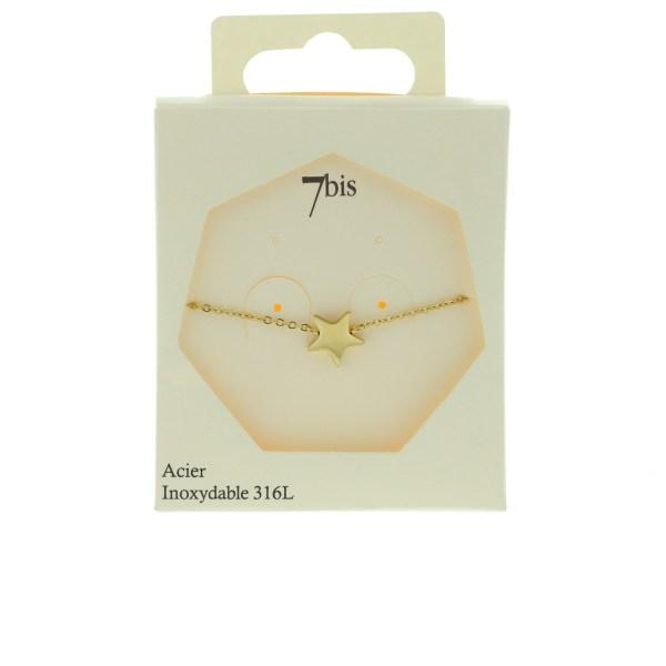 370220DORINX Bracelet Étoile Doré Discret Acier Inoxydable