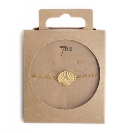 370284DOR Bracelet Coquillage Doré Gravé Mignonnerie