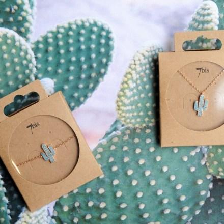 370764TURDORROS Bracelet Cactus Doré Rosé Strassé Turquoise