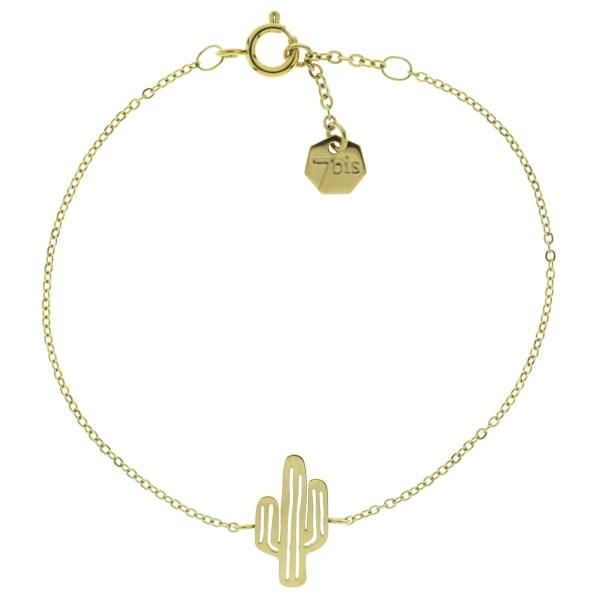 323799DORINX Bracelet Cactus Doré Repercé Acier 316l
