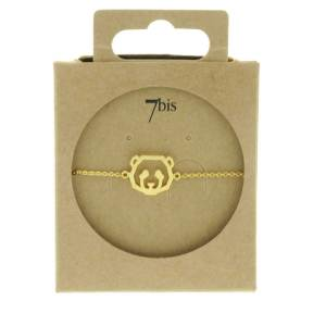 338256DOR Bracelet Panda Tête-animal Doré Géométrique